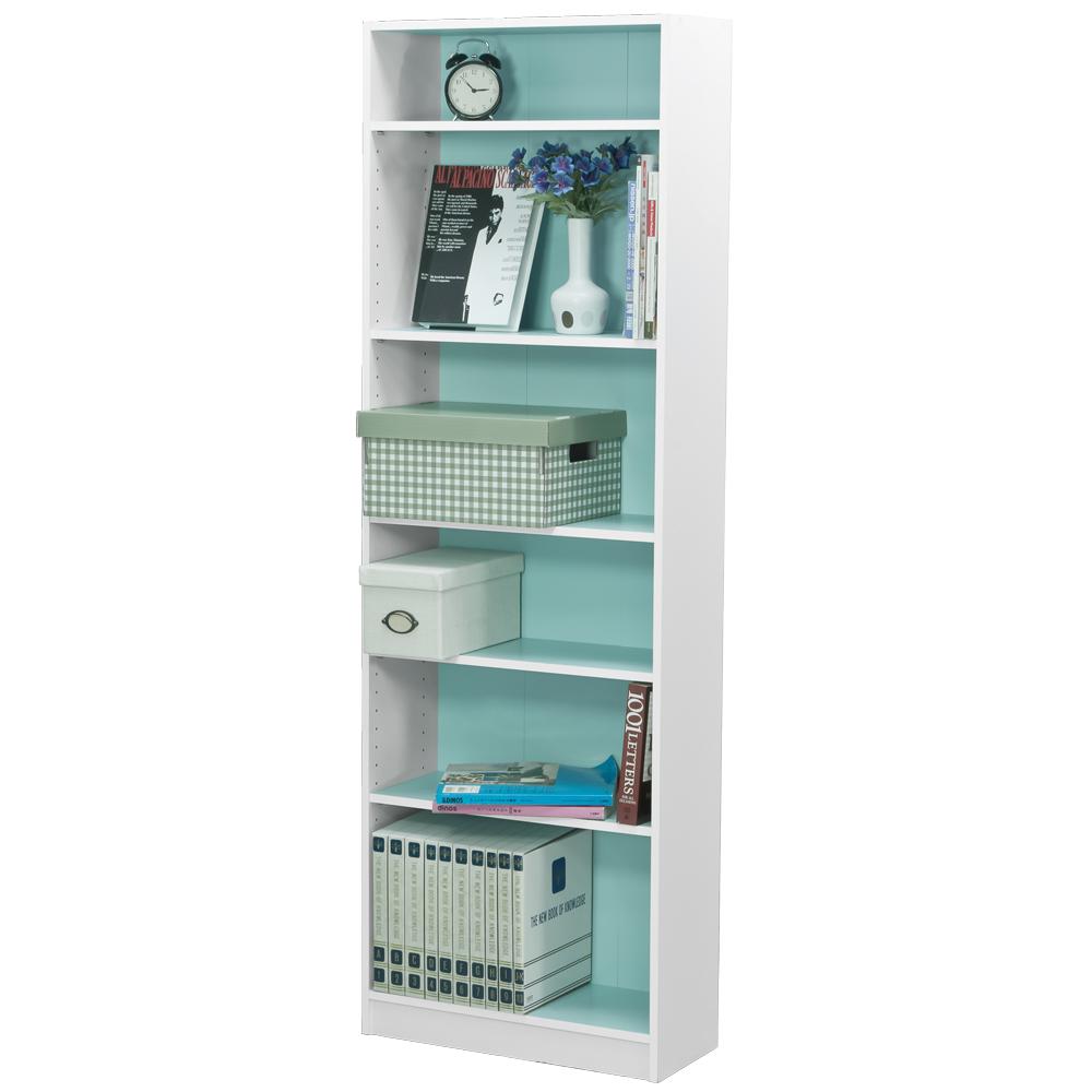 Robin 六格書櫃/置物櫃-粉藍