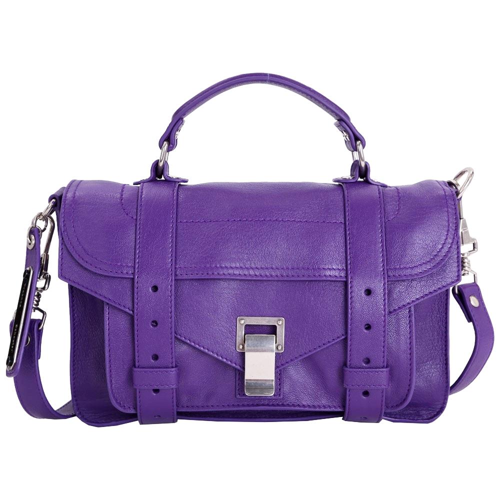 (無卡分期12期) PROENZA SCHOULER Tiny 山羊皮革兩用包(小/紫色)