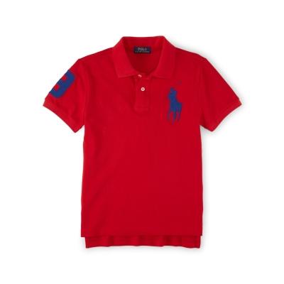 Ralph Lauren 短袖 小孩 POLO 素面 紅色 337