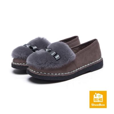 達芙妮DAPHNE-ShoeBox系列-平底鞋-緞