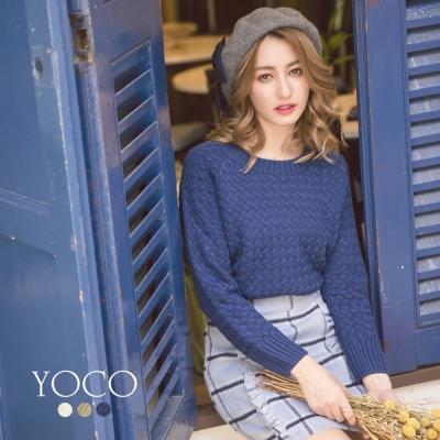 東京著衣-yoco 經典多色交叉針織長袖毛衣-S.M.L(共三色)