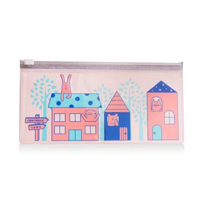 CRAFTHOLIC 宇宙人 幸福房屋收納袋(粉色)