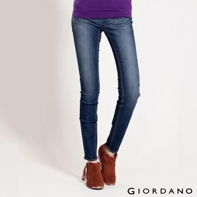 GIORDANO-女裝中低腰彈力修身窄管牛仔褲-6