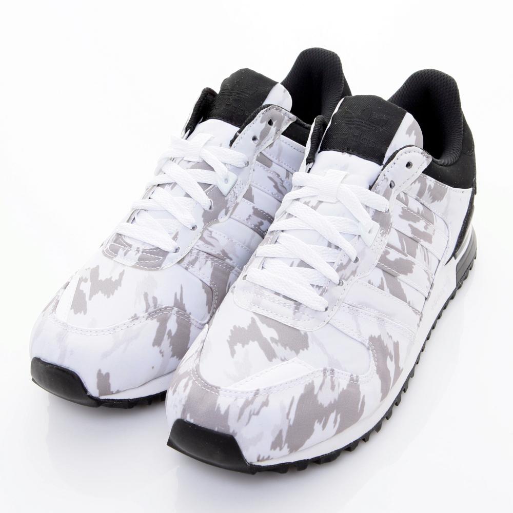 ADIDAS-ZX 700 男慢跑鞋-白灰黑