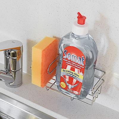 樂貼工坊 不鏽鋼洗碗精架/菜瓜布架/金屬貼面(2入組)-17x8x6