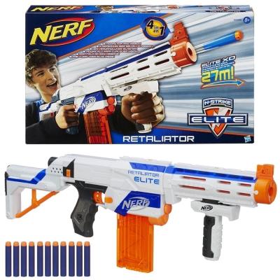 孩之寶Hasbro NERF系列 兒童射擊玩具復仇者四合一衝鋒槍 98696