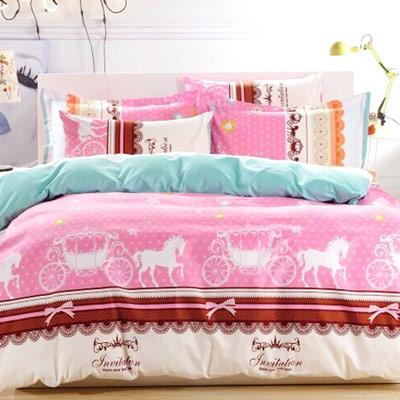 美夢元素 天鵝絨涼被床包組-雙人加大四件式華麗派對