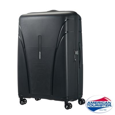 AT美國旅行者 25吋Skytracer飛機輪硬殼嵌合式TSA行李箱(暗灰黑)