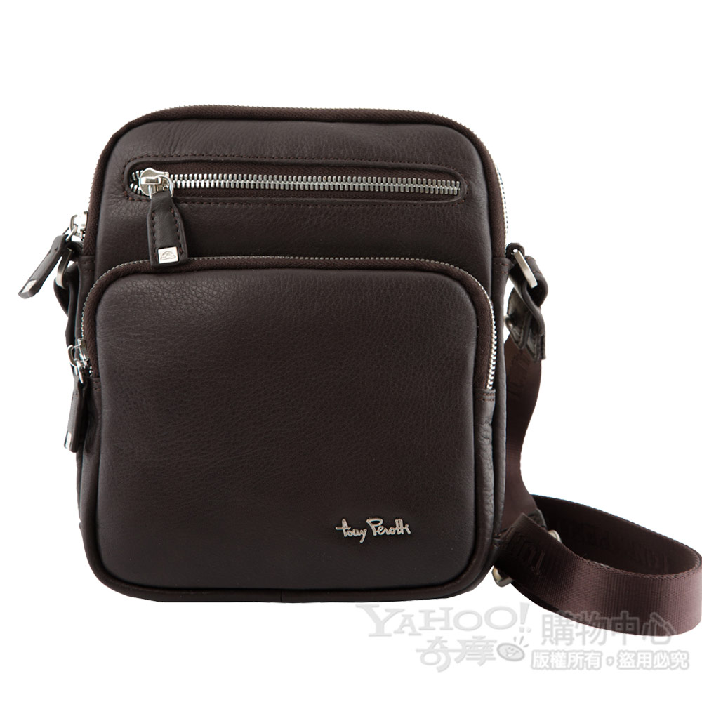 TONY PEROTTI 經典CONTATTO 軟牛皮肩背包 #9275 ( 咖啡色 ) @ Y!購物