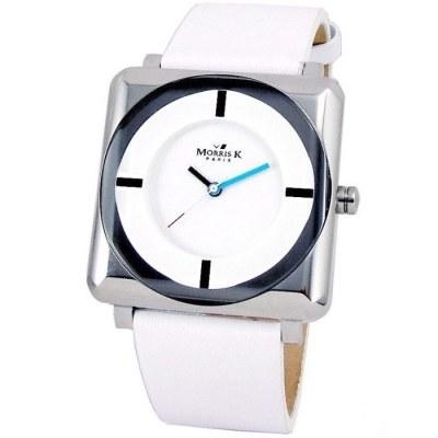 MORRIS K 時尚SHOW潮流愛不單行錶款(白色)