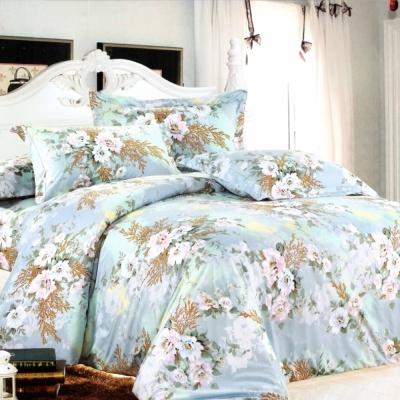 GALATEA-戀人花語 加大磨毛八件式舖棉兩用被床罩組