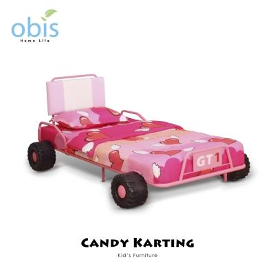 床架-糖果卡丁車-兒童單人床架-含床墊-Kids