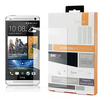 Coluxe HTC NEW ONE / M7 鋼化0.38mm玻璃防爆保護貼