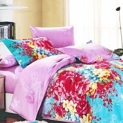 美夢元素 天鵝絨-兩用被套床包組-雙人加大 (美妙時空)