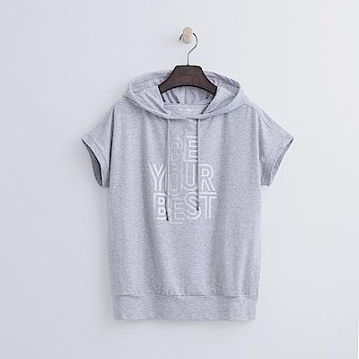 Hang Ten - 女裝 - ThermoContro印字連帽T恤-灰色