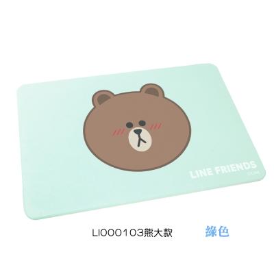LINE Friends 萌友瞬吸水珪藻土地墊 (熊大款)