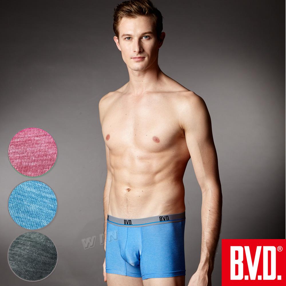 BVD 超透氣絲滑彈力平口褲(混色6入組)-台灣製造