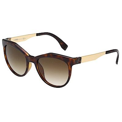 FENDI 時尚太陽眼鏡 (琥珀色)FF0049S