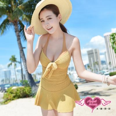 天使霓裳 陽光約會 一件式連身泳衣(駝M~2L)