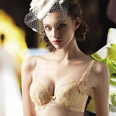 莎露 婚宴系列 B-D 罩杯內衣(金盞黃)奢華蕾絲
