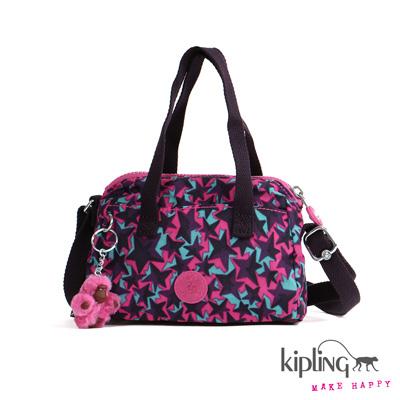 Kipling-手提包-紫紅星耀印花