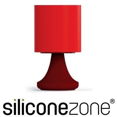 Siliconezone 施理康矽膠創意小檯燈鹽罐/胡椒罐-咖啡紅