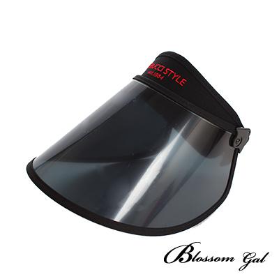 Blossom Gal韓國製鏡面加大美型抗UV戶外遮陽帽(黑色)