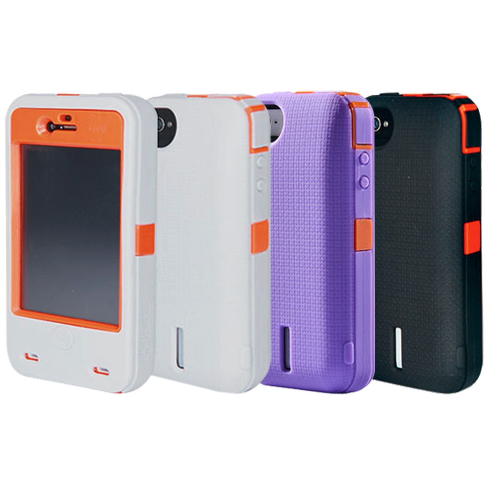 iBattz 魔力鐵甲iPhone 4/4S專用防潑抗震可換電池背蓋(3400mAh)