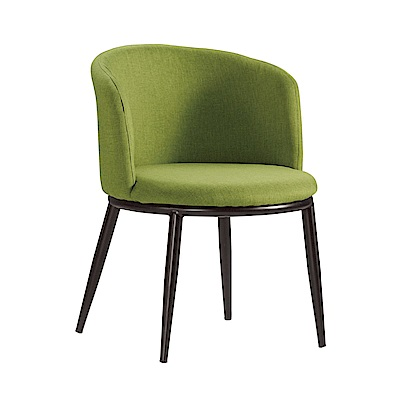 品家居 愛莎柏亞麻布餐椅2入組合(三色可選)-57x58x73cm免組