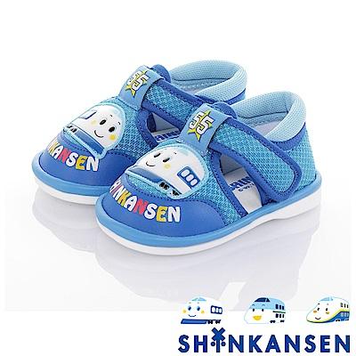 新幹線 輕量減壓寶寶學步嗶嗶涼鞋童鞋-藍