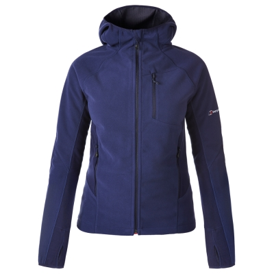 【Berghaus 貝豪斯】女款防風刷毛保暖外套H22FS2藍