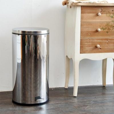 ikloo宜酷屋 不鏽鋼腳踏垃圾桶-30L(台灣製造)