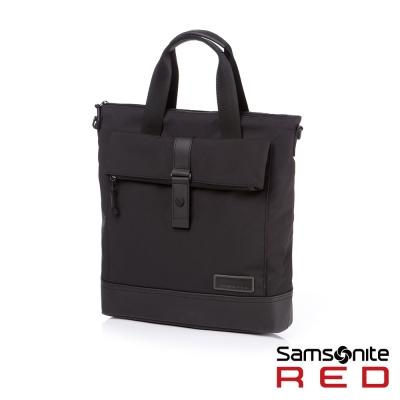 Samsonite-RED-GLEHN休閒折疊翻蓋筆電手拿包12-5吋-黑
