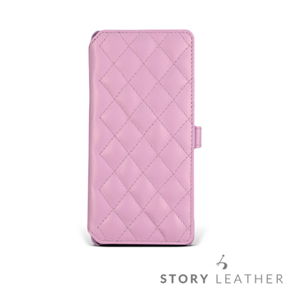 STORYLEATHER Note 8 Style-N85 硬殼式側翻菱格 客製...
