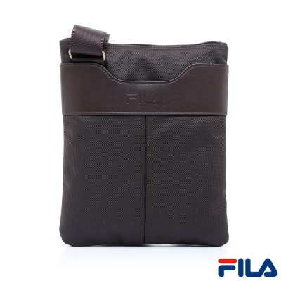 FILA雅仕質感直式貼身斜背包-咖啡-BSP-5301-BN