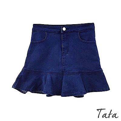 魚尾荷葉邊牛仔褲裙 TATA