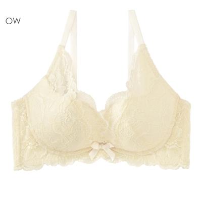 aimerfeel 舒適育乳高劦邊內衣-米白色