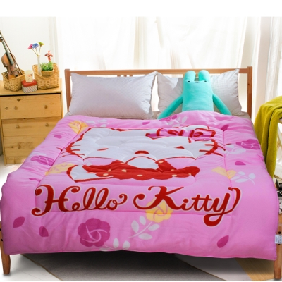 HELLO KITTY玫瑰園厚毯被