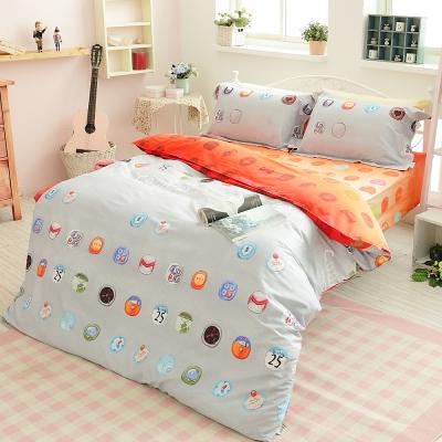 提案~引領 ~雙人四件式活性印染純棉兩用被床包組