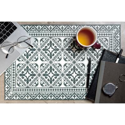 以色列穆妮薩-桌墊-部族風-灰綠窗格