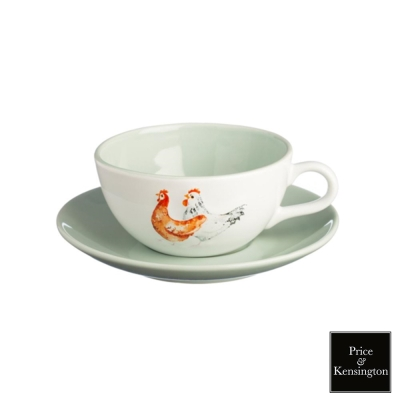 【P&K】農場系列公雞咖啡杯250ML附盤