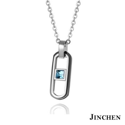 JINCHEN 白鋼承諾一生 情侶項鍊