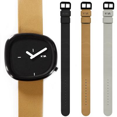 NAVA DESIGN 經典淬鍊石頭造型套錶組-黑/42mm