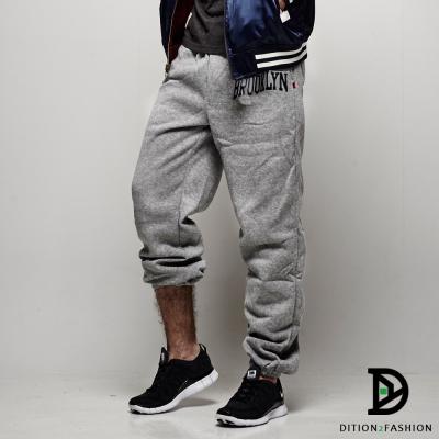DITION 美式布魯克林BROOKLYN刷毛棉褲 縮口褲 賈斯汀