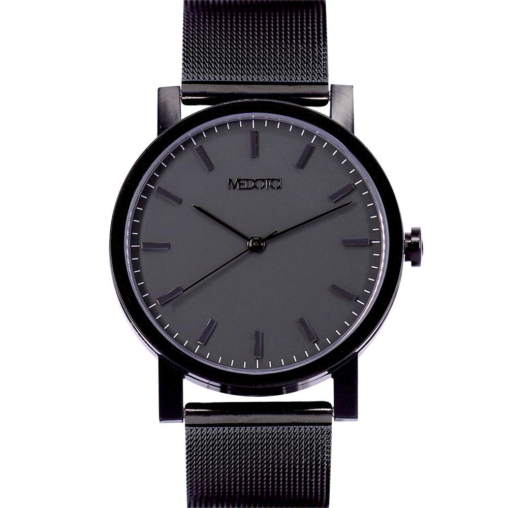 MEDOTA 極簡輕薄手錶- 倒影系列 – 男錶 黑色/40mm