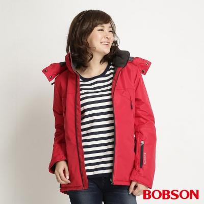 BOBSON 女款鋪棉防風透氣外套(紅13)