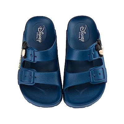 迪士尼 米奇 立體經典造型 休閒拖鞋-藍