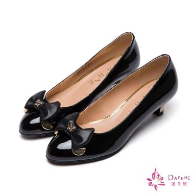 達芙妮DAPHNE-金屬壓邊立體蝴蝶結高跟鞋-精緻