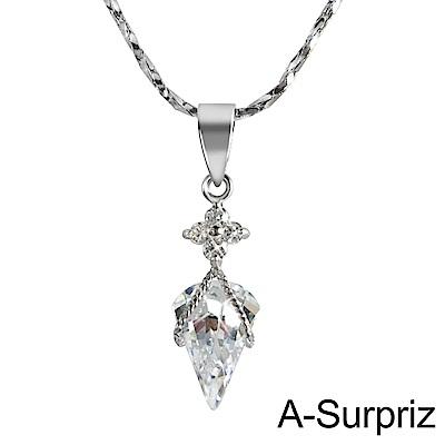 A-Surpriz 花漾淚滴鋯石項鍊