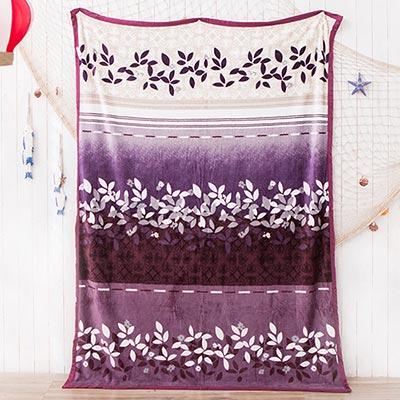 美夢元素 超柔舒適法蘭絨冬毯 紫葉迷情(200*150cm)